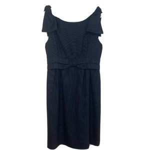 Marc by Marc Jacobs 97% Wool Navy Bow Dress Size 6